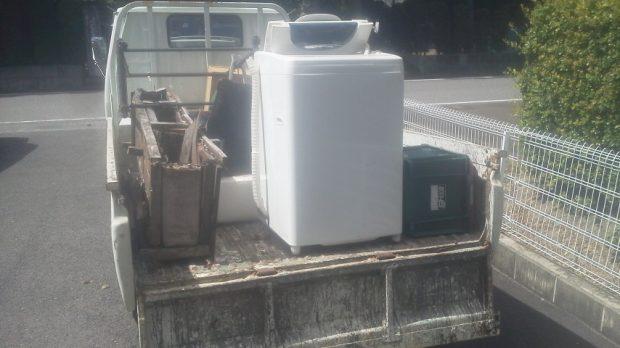 【新発田市】外に出して汚れてしまった不用品もまとめて回収