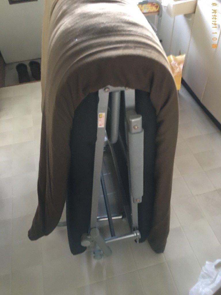 【新潟市江南区】折り畳みベッド、ダンボール、敷布団等の回収・処分