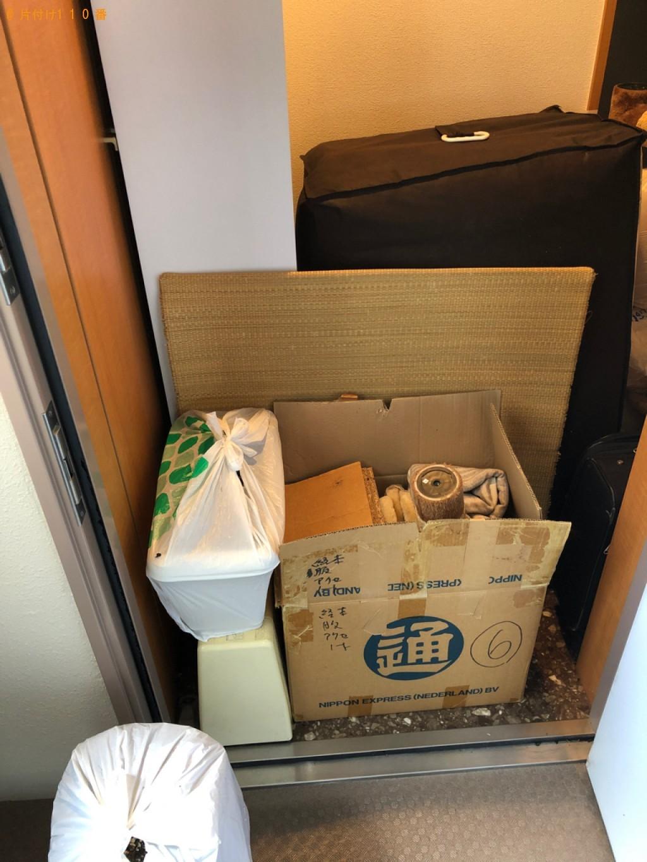【新潟市】カーペット、ウレタンマットレス、カラーボックス等の回収