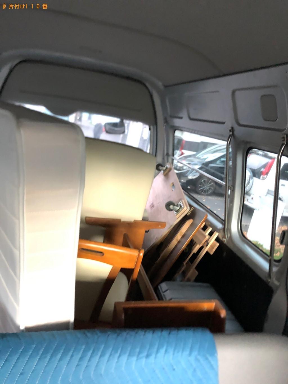 【新潟市】椅子、マットレス付きセミダブルベッド等の回収・処分