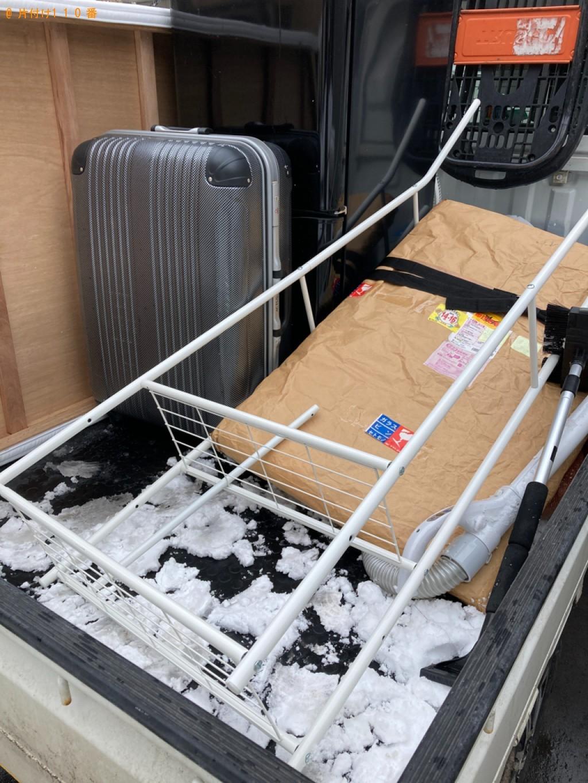 【新潟市】冷蔵庫、シングルベッドマットレス、スーツケースの回収