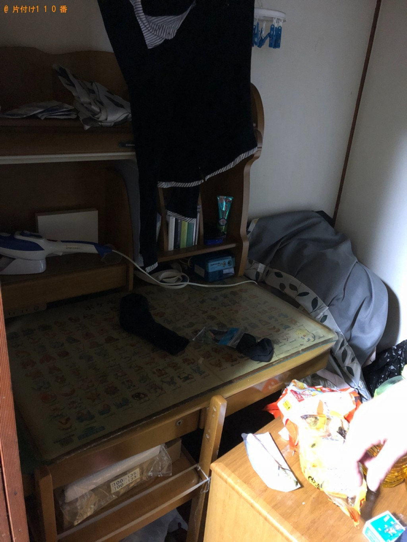 【新潟市】テレビ、マットレス付きシングルベッド、学習机等の回収